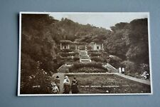 R&L Postcard: Italian Gardens Sacrborough Valentine Photo-Brown Art Deco Fashion