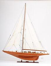 "Yacht Shamrock V 40"" Wooden Quality Sloop Ship Model J-Class Sailboat"
