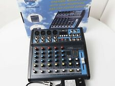 Audio2000s 6-Ch. Audio AMX7322 Professional Mixer with Effects and Bluetooth