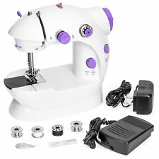 Portable Speed Adjustable Mini Lightweight Sewing Machine w/ Pedal & Push Button