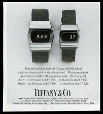 1977 Concord LED digital watch 2 styles photo Tiffany's vintage print ad