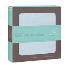 aden + anais classic changing pad cover, solid blue