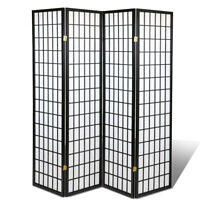 3 & 4 Panel Japanese Oriental Room Divider Hardwood Shoji Screen Privacy Wall