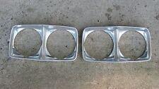 1972 pontiac catalina headlight bezels pair lh rh oem vtg safari driver pass 72