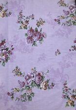 Shabby Chic Roses Cotton. Lilac(Light Purple )Color. Floral Cotton Bouquet. BTY