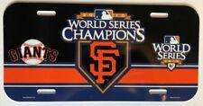 SAN FRANCISCO GIANTS 2010 WORLD SERIES CHAMPS MLB BASEBALL VINTAGE LICENSE PLATE