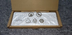 HP Galeras Wired White Slim PC Keyboard Model KBAH21 USB New Box