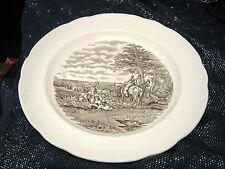 Wonderful Copeland Spode J F Herring Sen hunting plate The Kill approx 10½ ins
