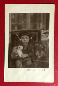 Privat Foto AK 1927 Kind mit Kopfhörer Radio Empfänger Detektor Typen  ( 63484