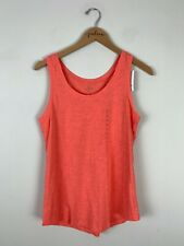 NWT Ann Taylor LOFT Coral Pink Scoop Neck Cotton Tank Top Size Small S