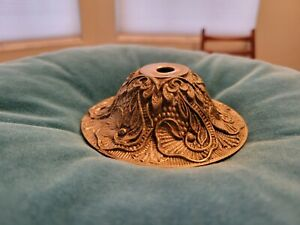 Vintage Brass Bronze Chandelier Light Ceiling Canopy Cover Spain #7