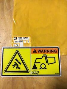 CATERPILLAR CAT Articulated Truck Crushing Hazard Warning Film Decal - 262-2675