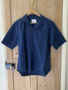 Albam short sleeve camp collar shirt medium blue