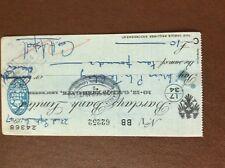 b1u ephemera cashed barclays bank 62252 sept 1947 aspell franked