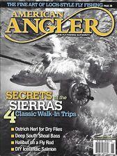 American Angler fishing magazine Sierra secrets Ostrich dry flies Shoal bass