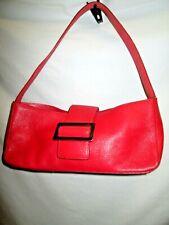 FOSSIL Orange Leather Small  Shoulder Purse Bag