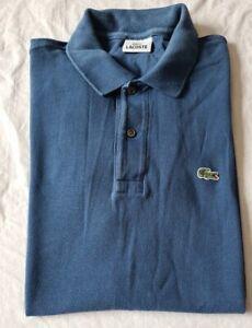 Vintage LACOSTE Blue Cotton Casual Polo Shirt Men's Size Medium (4)