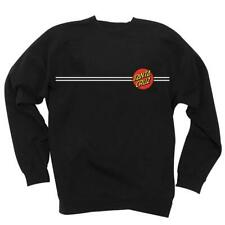 Santa Cruz - Classic Stripe Dot - Skateboard Crew Pullover Top - Black - Medium