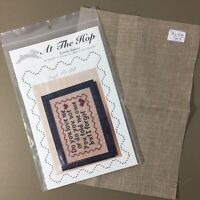 Forget Me Not by At The Hop cross stitch chart & 28 count linen Hearts Love