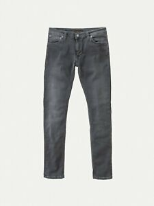 Nudie Jeans Co Skinny Lin Concrete Grey Organic Cotton Jeans RRP£160