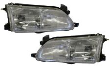 New Replacement Headlight Assembly PAIR / FOR 1993-97 TOYOTA COROLLA