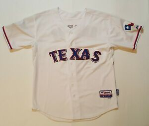MAJESTIC MLB Texas Rangers Andrus #1 2010 World Series Baseball Jersey Size 50