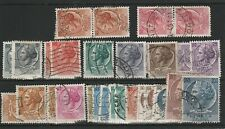 ITALY - 1953 - COIN OF SYRACUSE - SELECTION OF USED STAMPS