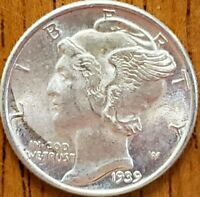 1939 Mercury Dime Uncirculated  **Check it Out** #AA050-8