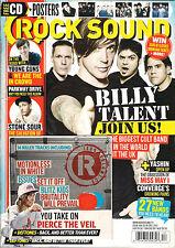 ROCK SOUND 168 December 2012 Billy Talent Young Guns Stone Sour Yashin NO CD