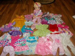 """BABY ALIVE Doll 13""""  ALL GONE UNBRANDED CLOTHING Clothes LOT"""