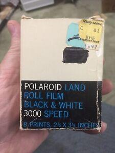 Vintage POLAROID 3000 Speed LAND PICTURE ROLL Black & White Expired Film Type 37