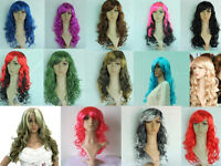 Wigs Hair Extensions Display Mannequin Wigs 50cm Long red pink purple blue BNWT