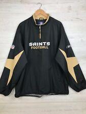 Reebok NFL New Orleans Saints, 1/2 Zip Light Weight Team  jacket, Men's Sz XL