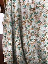 Vintage Leaf Pattern Wool Fabric 4 Metres