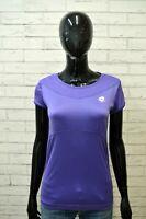 LOTTO Maglia Donna Taglia M Maglietta Slim Fit Manica Corta Shirt Women Polo