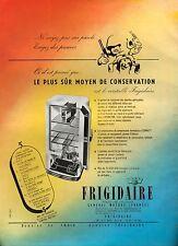 ▬► PUBLICITE ADVERTISING AD FRIGIDAIRE General Motors  1951