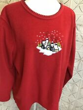 Cathy Daniels Christmas Sweater Pullover Red Long Sleeve Women's Size XL