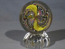 "Marbles: Hand Made Art Glass Alloway Dichroic ""Supernova.2"" #197     2.4inch"