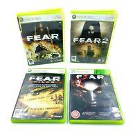 Lot Série intégrale FEAR F.E.A.R. 1 2 3 Files XBOX 360 PAL occasion