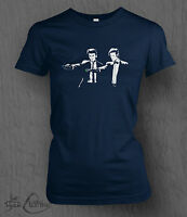 Doctor Who T-Shirt Time Lord Fiction WOMEN'S LADY FIT Banksy, Pulp Fiction,