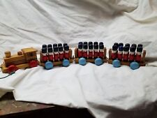 Soldier Pull-A-LongTrain 1984 Village Toys, math learning set
