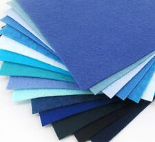 "15 - 9""X12""  Blue Colors Collection - Merino Wool blend Felt Sheets"
