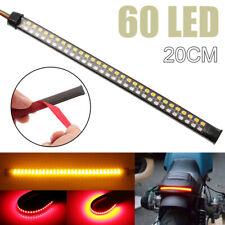 20cm 60LED Motorcycle Tail Light DRL Flowing Turn Signal Brake Stop Lamp Strip