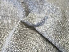 2 METRE END OF ROLL, A HESSIAN STYLE UPHOLSTERY FABRIC GREY,BEIGE & BROWN WEAVE
