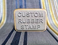 Custom Rubber Stamp : Logo Stamp : Laser Etched Stamp : Scrap-Booking : Handmade