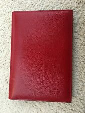 New John Lobb Paris Mens Red Leather Passport Holder Wallet