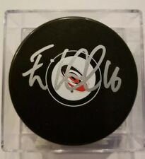 Elias Lindholm Signed / Autographed Carolina Hurricanes Puck With Case