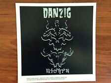 DANZIG - STICKER/DECAL - BRAND NEW VINTAGE - MUSIC BAND 015