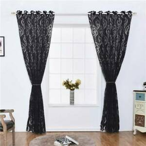 Decoration Floral Drape Sun Shade Door Drape Chic Bedroom Sheer Window Curtain