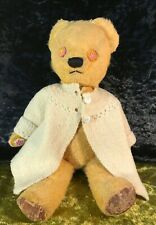 """ANTIQUE COLLECTABLE HIPPY CHAD VALLEY GOLD MOHAIR TEDDY BEAR JOINTED14""""/36CM"""